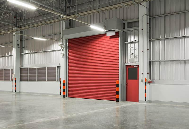 Red Roller Doors