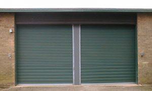 Green roller shutters