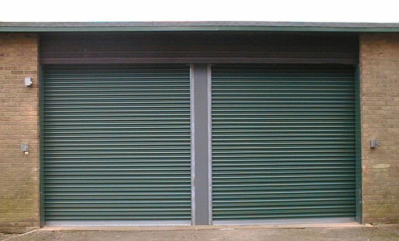 green roller shutter doors