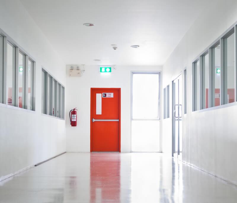 Emergency steel personnel door