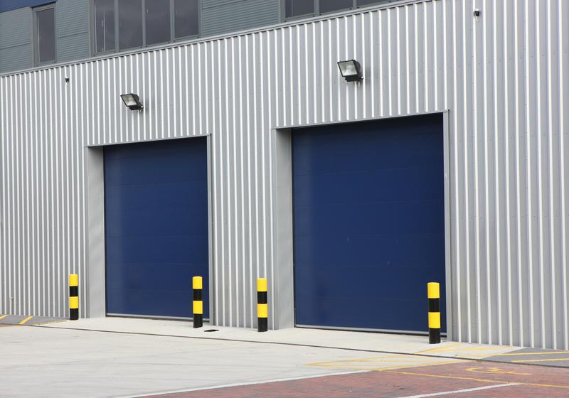 Dark blue Industrial doors